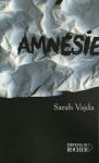 Amnésie de Sarah Vajda aux éditions du Rocher