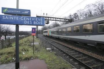 Photo prise le 15 février 2006 de la gare de Saint-Geneviève-des-Bois près de laquelle a été découvert Ilan Halimi, nu, bâillonné, menotté et portant des traces de tortures et de brûlures