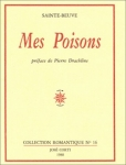 Sainte-Beuve, Mes Poisons
